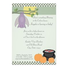 halloween baby shower card
