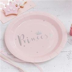 Use these gorgeous pink and silver foiled Paper Plates at your little princess' party! Each pack includes 8 paper plates. Each plate measures: in diameter. Princess Party Supplies, Princess Birthday Party Decorations, Party Themes, Birthday Parties, Décoration Baby Shower, Baby Shower Princess, Pink Princess, Princess Tiara, Party Plates