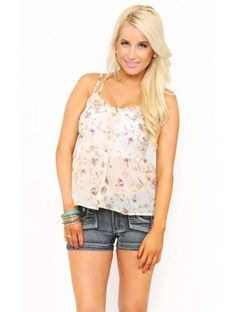 #Floral Woven Top