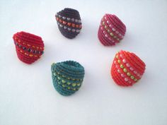 Items similar to Macrame ring- tutorial. Macrame ring for summer. Do it yourself. on Etsy Macrame Rings, Macrame Necklace, Macrame Knots, Macrame Jewelry, Diy Jewelry, Micro Macramé, Crochet Rings, Ring Tutorial, Macrame Projects