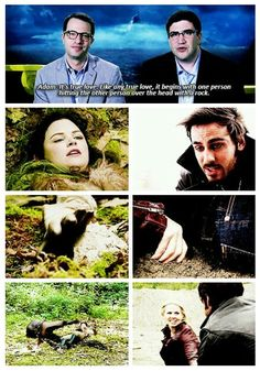 Once Upon a Time - True love. Funny parallels.