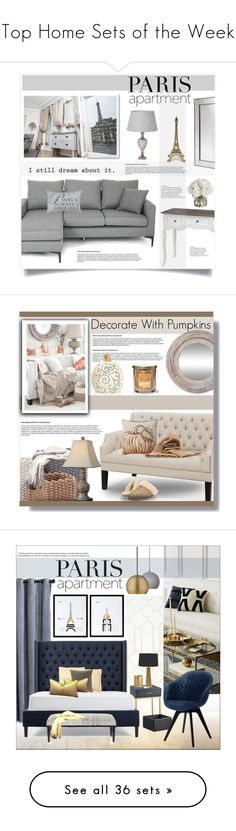 """""""Top Home Sets of the Week"""" by polyvore ❤ liked on Polyvore featuring interior, interiors, interior design, home, home decor, interior decorating, Park B. Smith, WALL, Diane James and parisapartment"""