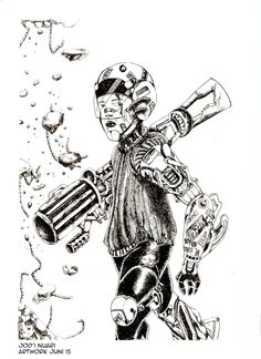 Ilustration indonesia future fight Character robot and mecha concep Artwork - Jod'i nuari