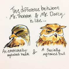Thornton and Darcy. But wait, which is which? :) // sketch by Ashley Ware