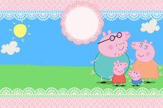 Peppa Pig Gratis, Peppa Pug, Peppa Pig Invitations, Printable Invitations, Birthday Party Invitations, Invitacion Peppa Pig, Cumple Peppa Pig, Peppa Pig Printables, Party Printables