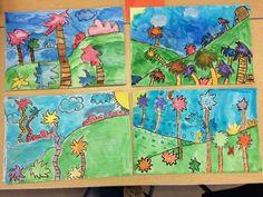 Dr. Seuss landscapes