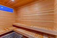 A huge sauna in the Quintessa home 💧💦 Plenty of space for you, family and friends! Who would like a sauna room in their house? Luxury Interior Design, Interior Decorating, Sauna Room, Bespoke, Stairs, House Design, Space, Detail, House Styles