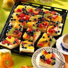 Zitronencreme-Obstkuchen vom Blech Rezept   LECKER