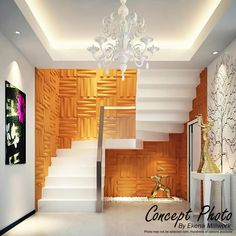 staircase wall decoration, decorative wall art panels decorative wall panels give your walls and the interior design a kind of life, browse our gallery of decorative wall art panels. Interior Design Living Room, Home, Wall Paneling Diy, Staircase Wall Decor, House Design, 3d Wall Decor, Ceiling Design, Home Stairs Design, Wall Design