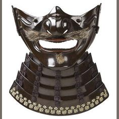 Bonhams 1793 : A lacquered iron menpo (face mask) Edo period, late 18th century