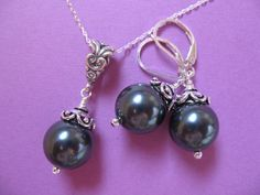Ever Designs Jewelry - Tahitian Pearls ~ Set, $30.00 (http://www.everdesigns.com/tahitian-pearls-set/)