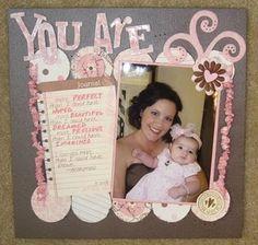 pink scrapbook page