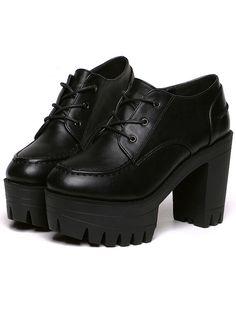 Chunky heel con cinta pu -negro 34.97