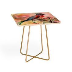Ginette Fine Art Poetry des Fleurs Side Table | DENY Designs Home Accessories @DENYDesigns #Home #Accessories #Ginette Fine Art #Poetry des #Fleurs