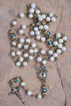 Hey, I found this really awesome Etsy listing at https://www.etsy.com/listing/231259347/handmade-rosary-white-baroque-pearl-with