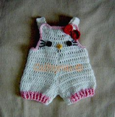 Instant Download crochet Pattern  Hello Kitty Baby by Cathyren, $4.95