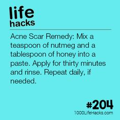 The post #204 – A Natural Acne Scar Remedy appeared first on 1000 Life Hacks.