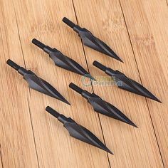 NEW IRQ Archery 150 Grain Hunting Broadheads Vintage Iron Arrow Head Screw Tips                                                                                                                                                     More