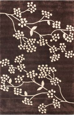 Keno Floral Vine Java Rug | Contemporary Rugs