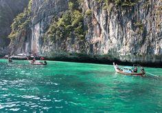 Trang, Thailand.  We went kayaking here, it was so incredibly beautiful.