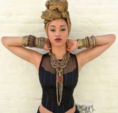 Bohemian : boho : head wrap : jewelry : chic