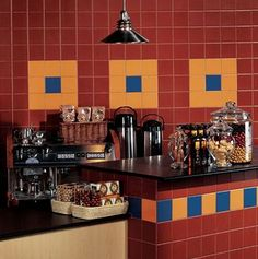 Wall Tile Ideas: Wall Tile Ideas:  Festive Tile for a Lively Kitchen