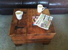Rustic Wooden Blanket Box Storage Chest Trunk Coffee Table Ottoma Waxed Pine