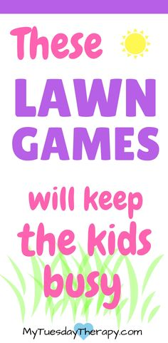 Time to enjoy the summer and play backyard games. These awesome lawn games for family keep everyone happy: kids, teens, adults. Outdoor summer fun for all! Outdoor Activities For Kids, Fun Crafts For Kids, Craft Activities For Kids, Hands On Activities, Educational Activities, Holiday Activities, Kid Crafts, Toddler Activities, Backyard Games