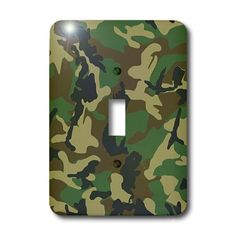 3dRose LLC lsp_20353_1 Green Camoflauge Print  Single Toggle Switch -- Click image for more details. This is Amazon affiliate link.