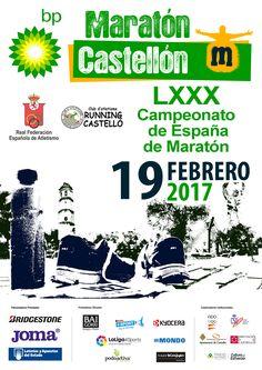 Cartel oficial del LXXX Campeonato de España de maratón (Castellón, 19 de febrero).