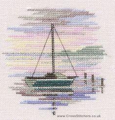 Sailing Boat - Minuets - Cross Stitch Kit from Derwentwater Designs