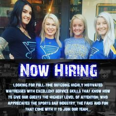 If this sounds like YOU apply within at 143 N. Main St. 63301! #bobbysplace #mainstreet #saintcharles #bobbysbombshells #lindenwood #hiring #waitress #lgb #bobbyplager #blueshockey #bluesbar #BLUES #job #jobopening