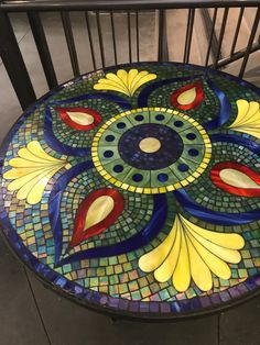 Mosaic art by Ursula Huber, Marble mosaic combined with natural slate. Mosaic Planters, Mosaic Tray, Mosaic Garden Art, Mosaic Glass, Mosaic Tiles, Glass Art, Mosaic Crafts, Mosaic Projects, Mosaic Furniture