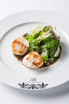 Grilled hand-dived scallops with autumn salad at The Grill at The Dorchester