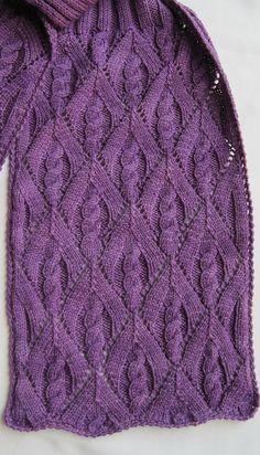 Elm Leaf Knitting Pattern : Crossed Loops (twisted traveling stitch). Written instructions Knitting Sti...