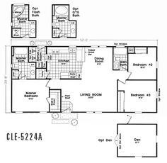 Floor Plan CLE-5228B | CLE Multi-Section | Durango Homes | Built by Cavco | Manufactured Home Floor Plans available in Arizona, California, Colorado, Nevada, New Mexico, and Utah