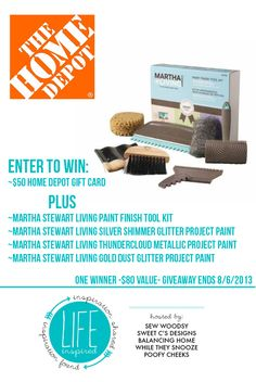 Life Inspired Weekly Link Party Giveaway with @Martha Stewart Living and @Home Depot