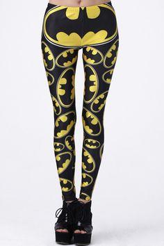 "ROMWE | ""Batman"" Black Leggings, The Latest Street Fashion"