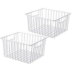 White 18 x 13.5 x 9 cm Set Of 5 Ralphs Small Plastic Storage Baskets Office Home /& Kitchen Tidy Organiser