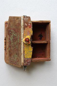 Driftwood Cupboard Cabinet,Drift wood ,Nautical Bathroom, Colourfull Beach hut  £145.00