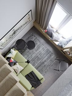 Living in a two-level studio apartment, the area 40 sq marchitect by Helen Baranova