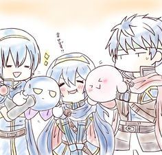 Marth, Lucina, Meta Knight, Kirby and Ike Super Smash Bros