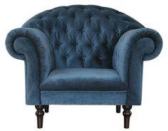 fotel Chesterfield, styl angielsk,i armchair, głęboko pikowany, plusz, velvet, blue, niebieski, turkusowy, navy, indygo  Madame.jpg (504×393)