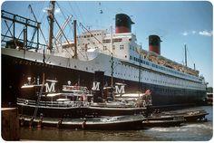 SS Ile De France Interior | ile de france 1952 new york harbor the ile de france was said to be ...