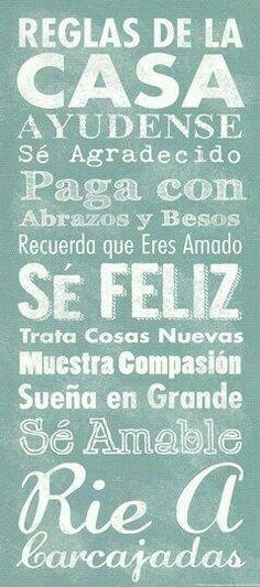 Reglas de la casa... Motivational Quotes, Inspirational Quotes, Mr Wonderful, Cute Notes, Spanish Quotes, Latin Quotes, Teaching Spanish, Word Art, Inspire Me