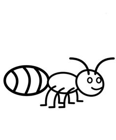 Printables Ant With Slice Apple Coloring Page | fourmi | Pinterest ...