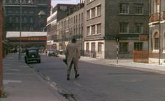 Argyle Street looking towards the tower of St Pancras Station (still from the film The Ladykillers (1955)