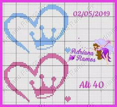 Cross Stitch For Kids, Cross Stitch Baby, Disney Letters, Perler Patterns, Baby Gifts, Diy And Crafts, Lily, Bullet Journal, Knitting