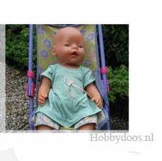Jurk en legging Baby Born 43 cm