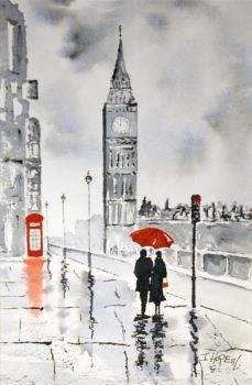London in the rain (15 pieces)